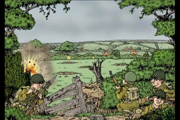 """L'histoire tragique du Major Howie, parmi toutes les histoires racontée en bande dessinée dans """"La saga des Lefébure"""" spécial 39/45."""