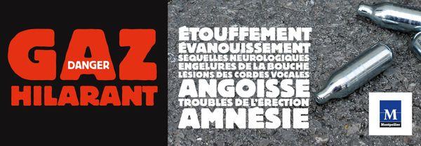 Une campagne contre le gaz hilarant lancée à Montpellier.