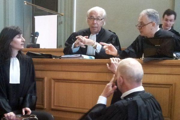 La défense de la Partie civile (Me Benoît Ducos-Ader et Daniel Picatin) au premier jour de ce procés en appel qui devrait durer une semaine.