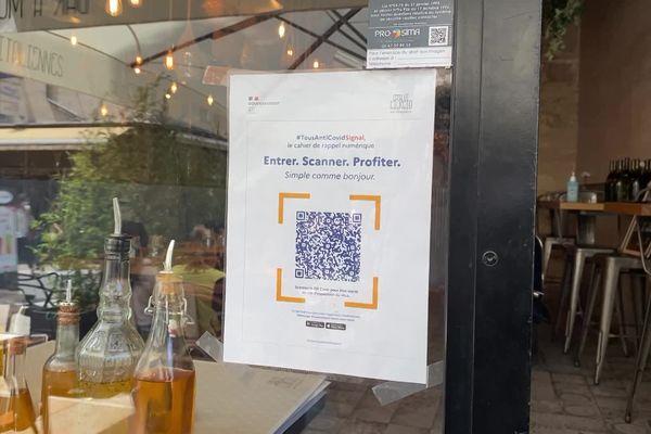 Les QR code doivent être installés à l'entrée des restaurants.