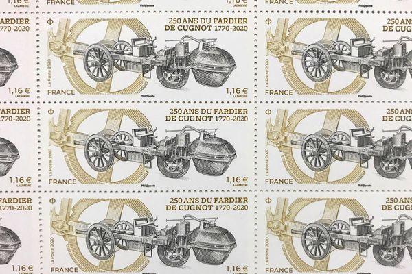 La Poste émet un timbre à l'occasion des 250 ans du Fardier de Cugnot