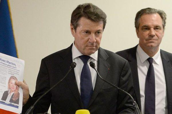 Le candidat Les Républicains en Paca Christian Estrosi lors de sa conférence de presse ce mardi 8 décembre.