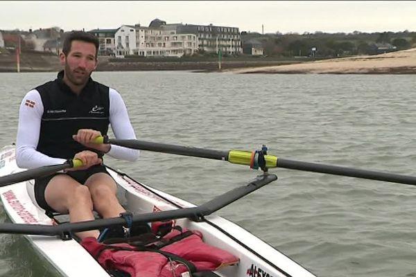 Pierrick ledard, 32 ans, est l'un des meilleurs compétiteurs au monde en aviron de mer