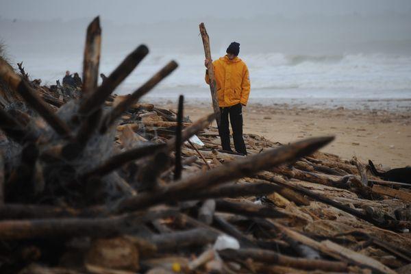 Le trait de côte a reculé de plus de 10 m. à certains endroits du littoral de la Charente-Maritime, comme ici à l'Île-de-Ré