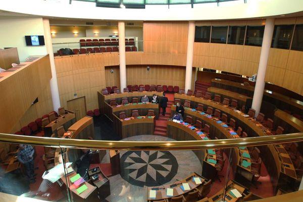 Illustration - L'hémicycle de l'Assemblée de Corse à Ajaccio