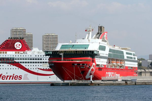 Le Danielle Casanova, de la Corsica Linea, dans le port de Marseille