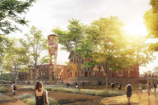 Le projet de rénovation de la zone d'activité du marché gare de Nîmes, lancé par l'agglomération.