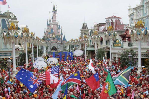 Dans le parc Disneyland Paris, en septembre 2007.