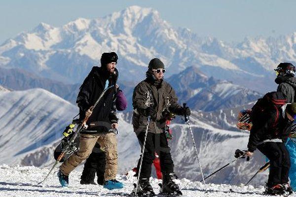 Skieurs aux 2 Alpes