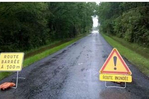 Une route coupée
