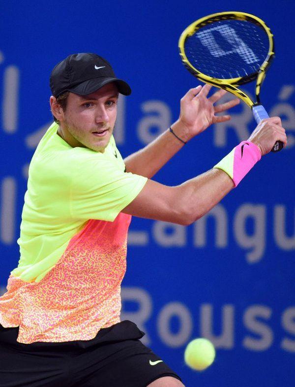 Lucas Pouille en février à Montpellier