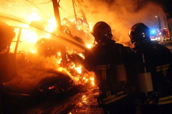 Les pompiers, lors d'une intervention en Creuse
