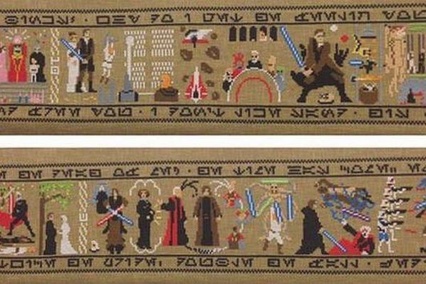 """Tapisserie """"Star wars"""", inspirée de la tapisserie de Bayeux"""