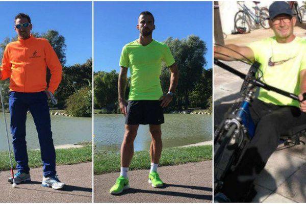 Arnaud, Tanguy et Patrick prêts à avaler 400 kilomètres entre la Bretagne et Angers, pour sensibiliser à la pratique des sports adaptés