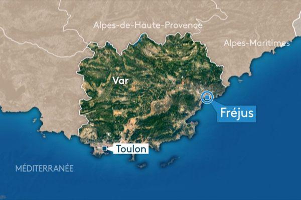 La ville de Fréjus, à l'est du Var.