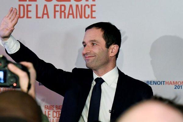 Benoît Hamon à l'issue des premiers résultats de ce premier tour de la primaire de la gauche