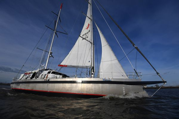 Le cargo à voiles Grain de Sail a rallié la République Dominicaine à Nantes avec 33 tonnes de chocolat bio dans sa cale.