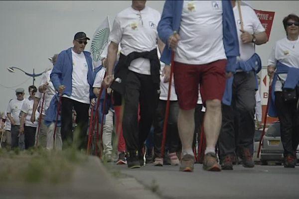 En mai 2016, des retraités de l'Aisne traversent la France pour dénoncer la faiblesse de leurs pensions