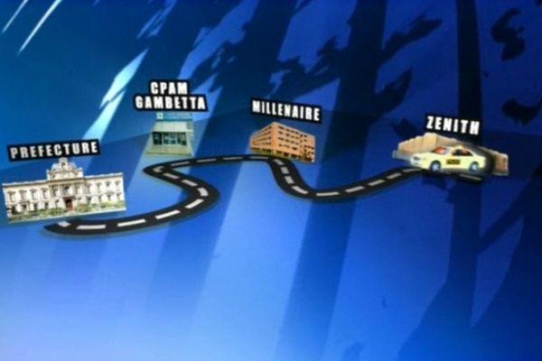 Les étapes de la manifestation des taxis jeudi à Montpellier