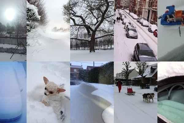 Vous êtes très nombreux à nous envoyer vos photos de neige depuis ce matin.