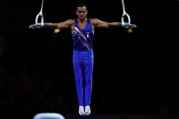 Le gymnaste Samir Aït Saïd aux championnats du monde de Stuttgart en 2019. Il s'est qualifié pour les Jeux Olympiques de Tokyo sur les anneaux et sera également porte-drapeau.