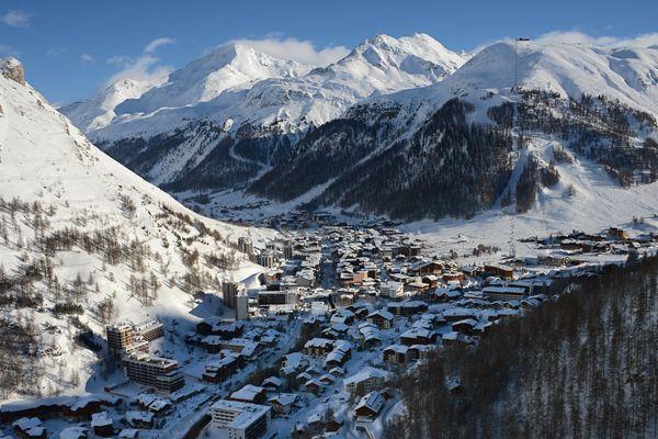 La station de ski de Val d'Isère, dans la vallée de la Tarentaise