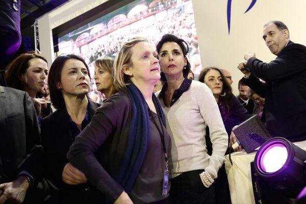 Delphine Burkli et Florence Berthout (toutes les deux au premier plan) annoncent chacune de leur côté quitter LR (illustration : rassemblement public avec Nathalie Kosciusko-Morizet en 2014).