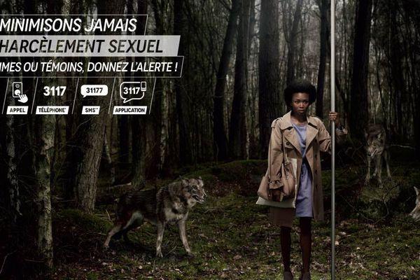 Un des visuels de la campagne de sensibilisation contre le harcèlement dans les transports franciliens lancée ce lundi