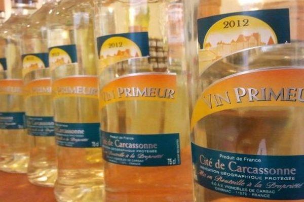 Cavanac (Aude) - le vin primeur de Carcassonne est là - 18 octobre 2012.