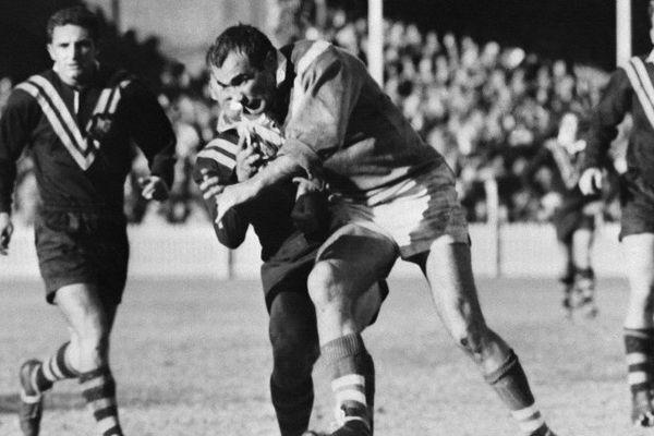 Jean Barthe lors du premier match test de rugby à XIII opposant la France à l'Australie - 15 juin 1960