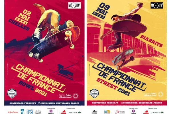Le championnat de France de Skate est prévu dimanche 2 mai à Chelles pour l'épreuve de bowl, et le dimanche 9 mai à Biarritz pour l'épreuve de street.