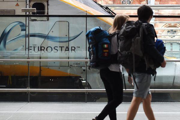 Un Eurostar au départ de Londres.