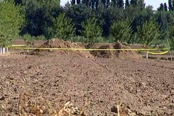Pia (Pyrénées-Orientales) - 1 mort âgé de 25 ans et 1 blessé grave dans l'éboulement d'une tranchée - 21 juillet 2014.