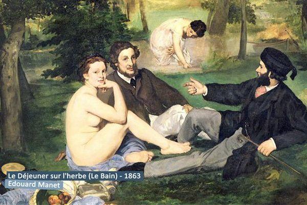 """Le déjeuner sur l'herbe d'Edouard Manet, dans """"Premières Impressions - l'héritage d'un courant"""" le documentaire de lundi soir"""