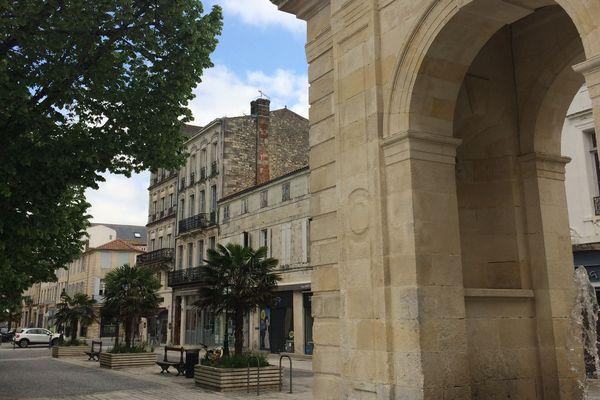 Le centre ville de Rochefort (Charente-Maritime)