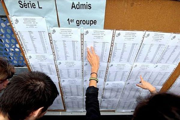 Les tableaux d'affichage des résultats du bac, archives 2012