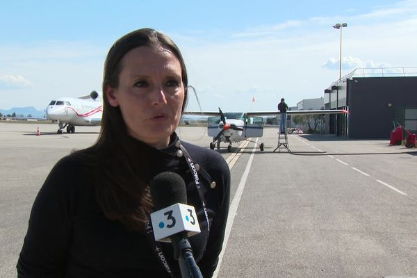 """"""" Nous ne sommes pas impactés par la crise"""", précise Marjorie Léauthier, directrice de l'aéroport Valence-Chabeuil"""