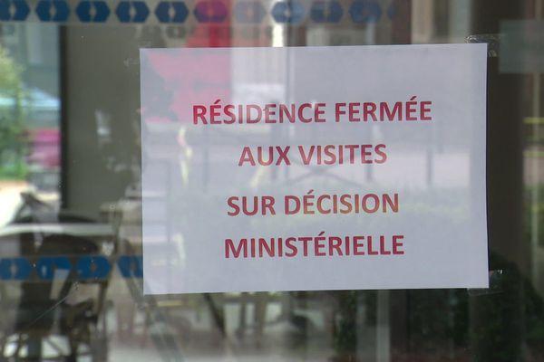 Résidence pour personnes âgées fermée aux visites à Maromme (76)