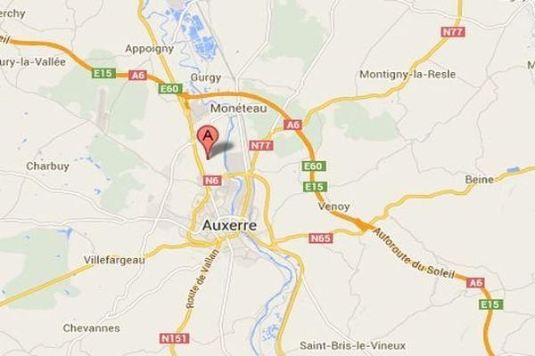 L'accident a eu lieu à hauteur du lieu-dit Les Chesnez près d'Auxerre