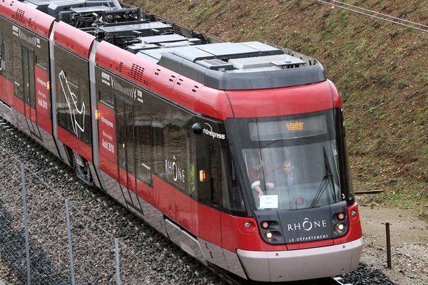 La navette Rhône Express, qui relie Lyon à l'aéroport et la gare Saint-Exupéry, était hors service ce mercredi 23 octobre au matin.