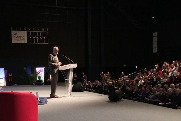 Alain Rousset intervient devant les maires de Nouvelle Aquitaine