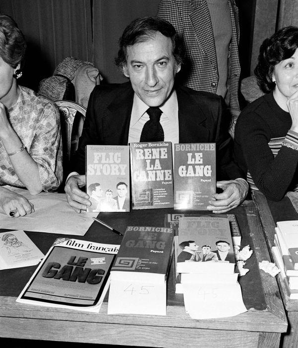 Roger Borniche à Paris en 1975.