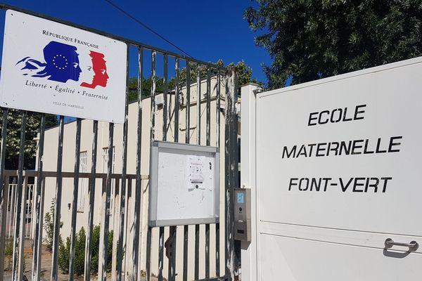 Un cas de coronavirus s'est déclaré chez un enfant de grande section de l'école maternelle Font Vert lundi 15 juin, dans le 14e arrondissement de Marseille