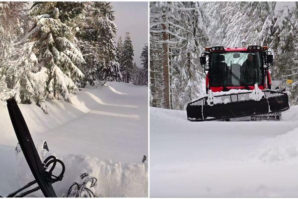 Jean-Paul Krebs, blogueur, a filmé les paysages enneigés du Lac Blanc au petit matin.