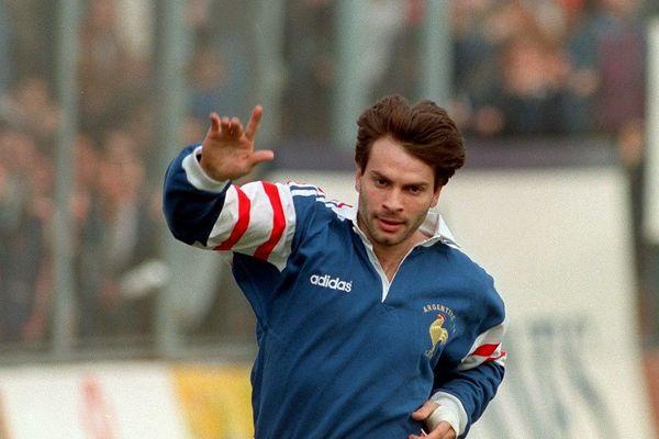 Christophe Dominici, lors de Argentine-France, le 13 juin 1998 à Buenos Aires.