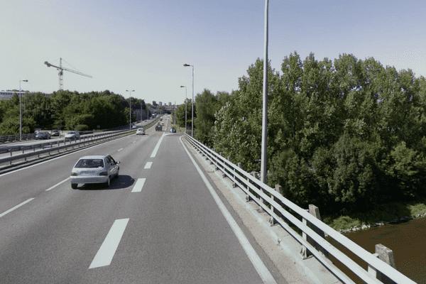 Accident sur l'autoroute A20 sortie 33, le 26 février 2013 à Limoges dans le sens Sud > Nord