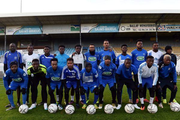 L'équipe de Geldar de Kourou à l'entrainement au Stade Fred Aubert