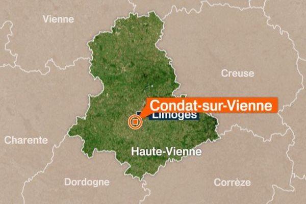 Un motard gravement blessé dans un accident de la circulation sur la commune de Condat-sur-Vienne
