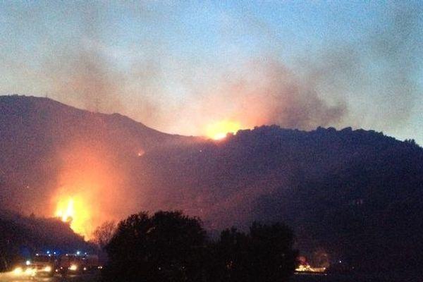 Le feu s'est déclaré près du centre de rééducation de Peyrefitte
