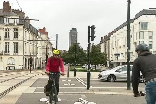 Nantes fait partie des villes où le nombre de cyclistes a nettement augmenté.
